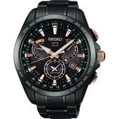SEIKO ASTRON GPS 鈦 衛星太陽能電波腕錶-黑/45mm 8X53-0AB0P(SSE075J1)