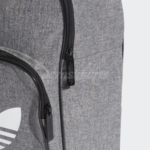 adidas 後背包 Trefoil Casual Backpack 三葉草 復古 雙肩背 包包 書包 灰 白【PUMP306】 D98923