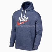 Nike 長袖T恤 NSW Heritage Hoodie 藍 白 男款 帽T 運動休閒 【ACS】 BV2934-410