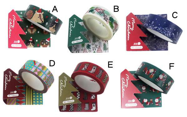 【卡漫城】Funtape 耶誕節 裝飾貼 兩入組 禮物 聖誕老公公 包裝 創意貼 佈置 六款選二  9 9 元/款 L2
