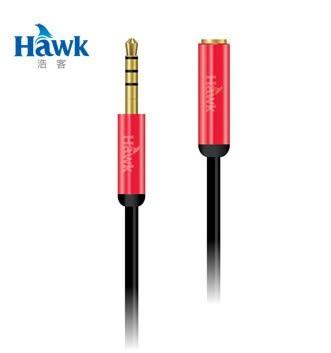 [ 中將3C ]  Hawk R315鋁合金3.5mm音源傳輸線 (公-母150cm) 04-HMR315