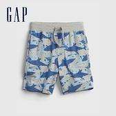 Gap男幼童 布萊納系列 口袋印花休閒短褲 542324-藍色