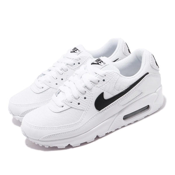 Nike 休閒鞋 Wmns Air Max 90 白 黑 女鞋 麂皮設計 氣墊 運動鞋 【PUMP306】 CQ2560-101