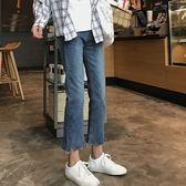 牛仔褲春秋女裝褲子好康推薦正韓寬鬆直筒褲九分褲顯瘦高腰牛仔褲學生潮