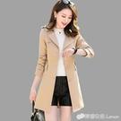 秋裝新款女裝韓版修身氣質收腰英倫風春秋裝外套風衣女中長款