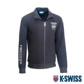 K-SWISS Solid Mock Neck Jacket運動外套-男-黑