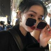 黑色大框太陽鏡女士防紫外線網紅墨鏡百搭時尚偏光眼鏡夏季遮陽鏡 雙十二全館免運