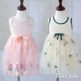 Mini Jule 女童 洋裝 玫瑰亮片圓圈/多彩花朵刺繡網紗無袖洋裝(共2款) Azio Kids 美國派 童裝