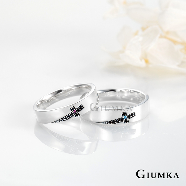 GIUMKA十字架銀戒指情人節情侶對戒生日送男友禮物銀飾推薦 單個價格MRS08023
