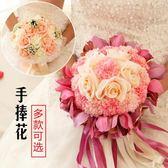 尾牙鉅惠婚禮花束 新娘手捧花結婚新款 仿真韓式婚禮玫瑰花束影樓拍攝道具婚慶用品YYS 珍妮寶貝