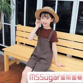 女童夏款2020新款童裝兒童闊腿褲時髦套裝短褲吊帶褲洋氣兩件套潮 Korea時尚記