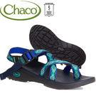 Chaco ZLW02-HC15藍寶石印花 女越野紓壓涼鞋-Z/Cloud 2 夾腳款運動鞋/美國佳扣水陸兩用鞋/沙灘拖鞋