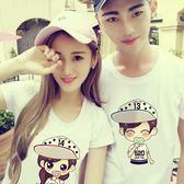 情侶裝-裝新款情侶T恤短袖上衣半袖潮韓范卡通學生春季個性
