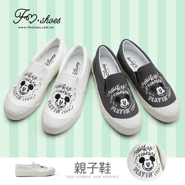 休閒鞋.正版迪士尼親子餅乾鞋(17-26)-白、黑-FM時尚美鞋-Disney.Freestyle
