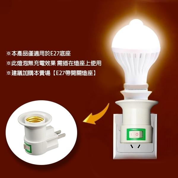 【coni shop】人體感應LED燈泡 12W 現貨 當天出貨 E27 自動感應 紅外線 節能 緊急照明 高安全性