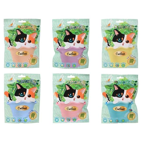 『寵喵樂旗艦店』Catfeet呼嚕愛乾淨《薄荷化毛潔牙餡餅》多種口味可選 嗜口性高 貓零食