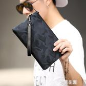 迷彩防水手拿包 韓版時尚男士新款手包 休閒街頭手機包 潮流男包『艾麗花園』