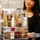 #女生必備#透明防塵化妝品收納盒桌面置物架口紅梳妝臺【小檸檬3C】