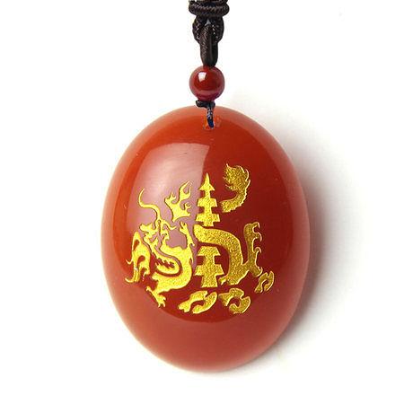 天然紅瑪瑙玄龍鎮塔 生肖鼠吉祥物