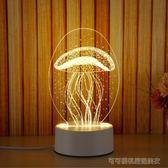 led小夜燈3D小台燈臥室床頭燈插電喂奶燈嬰兒臥室睡眠燈生日禮物  Cocoa