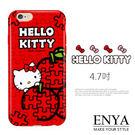 iPhone6/6S 4.7吋 日本三麗鷗HelloKitty蘋果拼圖 手機軟殼 Enya恩雅