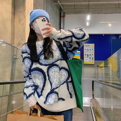 針織毛衣 長袖毛衣 秋冬外套慵懶風寬松針織衫毛衣女H5F-501.依品國際