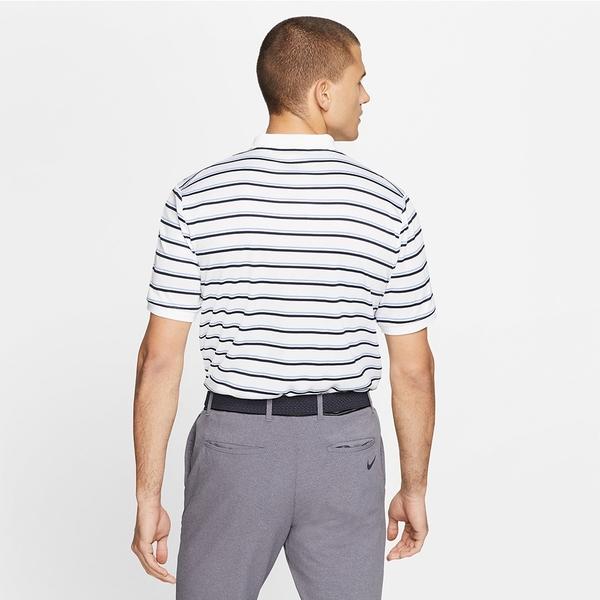 NIKE服飾系列-NKCT DRY PQ POLO GX 男款藍白橫條紋短袖POLO衫-NO.CI9155100