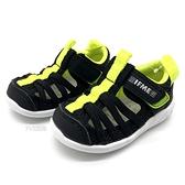 《7+1童鞋》日本 IFME 透氣 魔鬼氈 寶寶機能 學步涼鞋 水涼鞋 D440 黑色