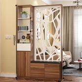 屏風 玄關櫃隔斷櫃鞋櫃現代門廳邊櫃客廳裝飾櫃櫃置物架酒儲物櫃帶換鞋凳xw