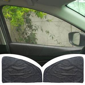 磁吸式簡便汽車遮陽簾-黑網紗前窗2片