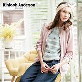 【Kinloch Anderson金安德森】俏皮飛行外套粉紅/米白奶油色點點蕾絲提花外套 KA0756005