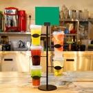 杯架 奶茶店吧台杯型展示架咖啡杯專用杯子陳列架鐵藝展示架飲料杯架 生活主義