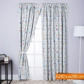 歡樂派對防蹣抗菌遮光窗簾 寬290x高240cm