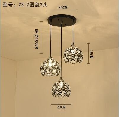 2312黑色圓盤款北歐餐廳吊燈創意個性餐廳燈飯廳燈現代鐵藝