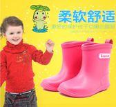 兒童雨鞋中低筒防滑寶寶雨靴 男女童春夏小孩水靴日本輕便膠鞋     花間公主