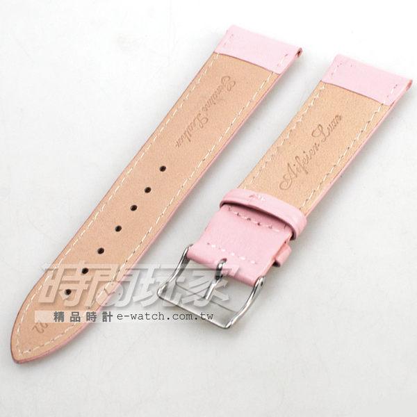 22mm錶帶|真皮錶帶 粉紅色 錶帶 KE粉紅車素22