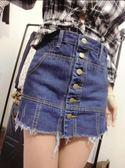牛仔短褲裙夏季包臀裙韓版潮百搭休閒顯瘦半身裙假兩件短褲裙  東川崎町