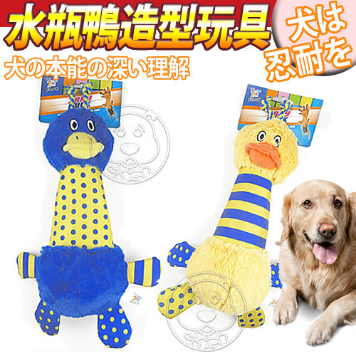 【zoo寵物商城】 R2P狗狗系列》水瓶鴨鴨造型狗玩具/個