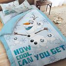 床包被套組 / 雙人【冰雪奇緣-雪寶與小雪人系列】含兩件枕套 高密度磨毛 戀家小舖台灣製ABF212