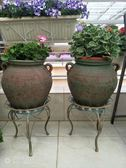 法式鄉村做舊復古鐵藝圓形花凳綠蘿綠植花架花托庭院陽臺裝飾架