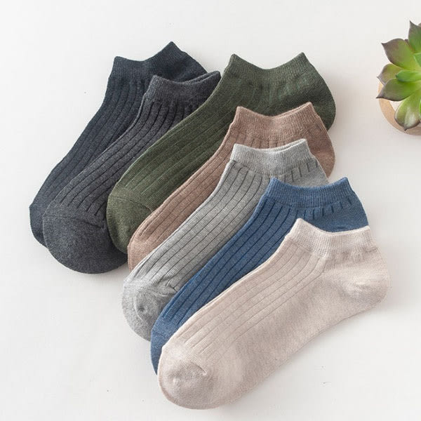 襪子-正韓北歐色系 男款短襪 短襪隱形 素色短襪 船型短襪 淺口襪 隱形襪 船襪 【AN SHOP】