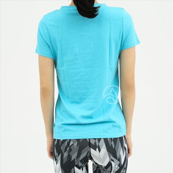 Nike 大童 亮藍色 logo 白色印花 透氣 排汗 圓領 短袖上衣 807432-418