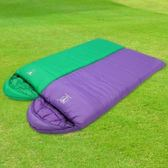【APC】馬卡龍秋冬可拼接全開式睡袋-葡萄紫+蘋果綠