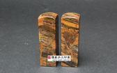 頂級橘色木化石臍帶印章《全手工噴砂》六分,正常高度,單章。全配包裝。傳家手工印章