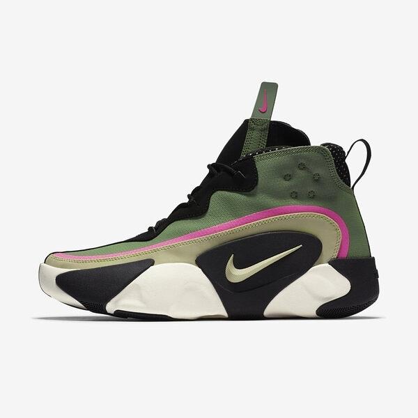 Nike React Frenzy [CN0842-300] 男鞋 運動 籃球 支撐 高筒 避震 包覆 穿搭 綠 黑