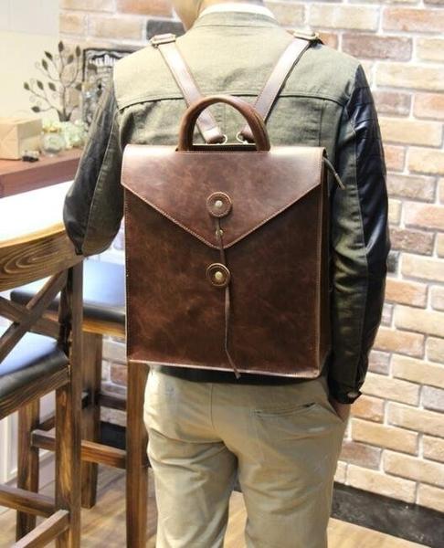 FINDSENSE Z1 韓國 時尚 潮 男 皮質 復古 手提包 旅行包 電腦包