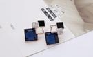 韓國時尚耳環水晶誇張耳釘鑲鑽幾何耳釘耳環飾品 好貨 品質好!