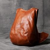 真皮後背包-純色牛皮休閒防盜男女雙肩包2色73vz20【時尚巴黎】