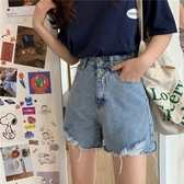 2020年夏季新款韓版高腰寬鬆顯瘦A字闊腿熱褲女士牛仔褲短褲ins潮 童趣屋
