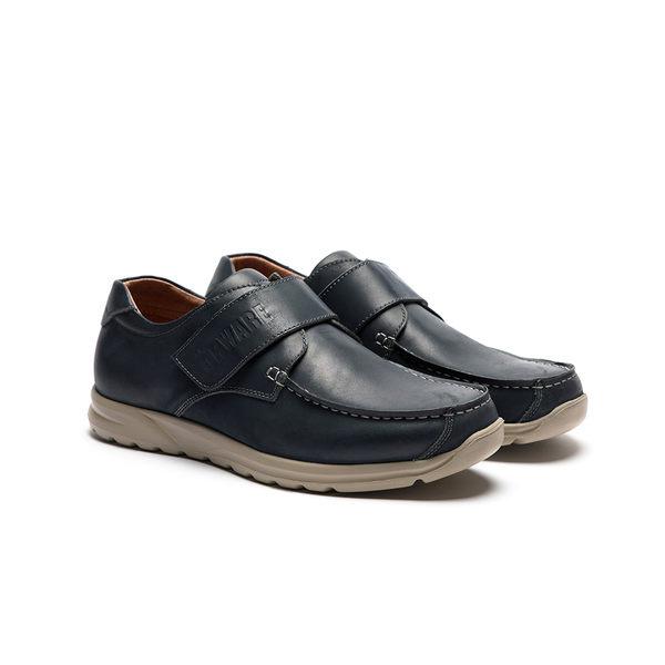 ORWARE-亮色牛皮魔鬼粘帆船鞋/男622144-07藍